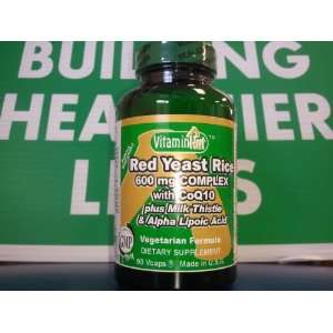 Vitamin Hut Red Yeast Rice 600 mg Complex with CoQ10 plus Milk Thistle