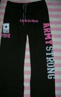 VICTORIAS SECRET PINK US ARMY Boyfriend SWEATs Pants Large sweatpants