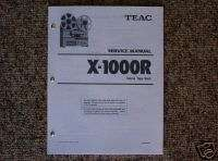 Teac X 1000R Reel to Reel Service Manual FREE SHIP!