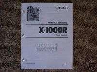 Teac X 1000R Reel to Reel Service Manual FREE SHIP