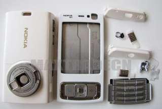 New White Full Housing Cover Case For Nokia N95 Keypad