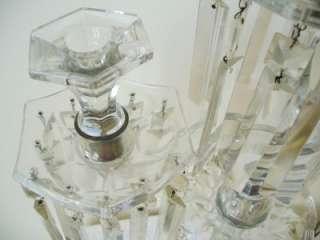 vintage pair of art glass tall candelabra   elegant clear crystal