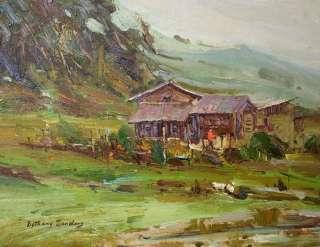 ld298  size 12x16  Landscape ,Art Original oil painting