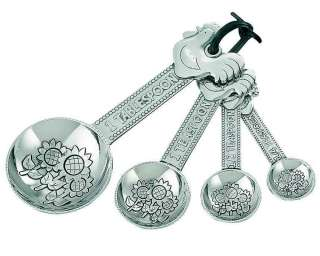 4pc New Ganz Measuring Spoons Kitchen Set Great Holidays Gifts for mom