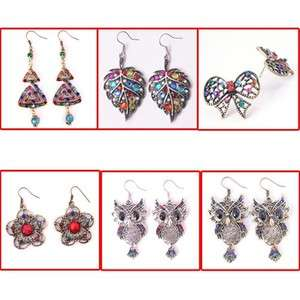 Fashion Beautiful Charm Party Crystal Resin Dangle Earrings Jewelry