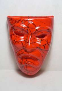 Modern Art Pottery Tragedy Theater Mask Wall Pocket |
