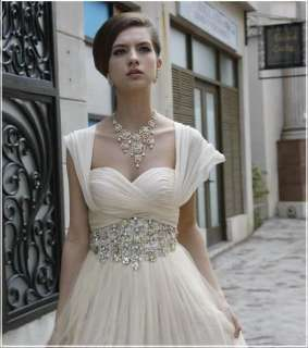custom bridal bridesmaid wedding dress prom evening gown Short Sleeve