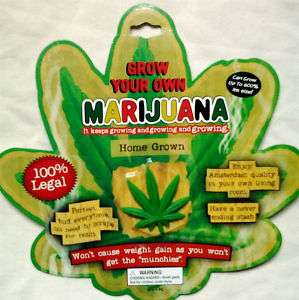 GROW YOUR OWN MARIJUANA Gag Novelty GIANT POT LEAF/WEED