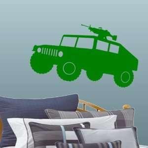 StikEez Green Large Military Humvee HMMWV Wall & Window