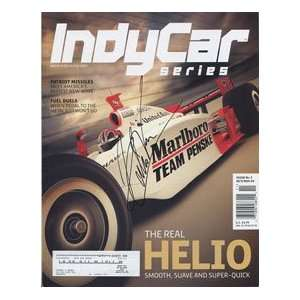 Helio Castroneves Autographed Indy Car Magazine Sports