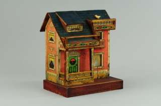 BLISS TWO STORY doll house Paper lithography over wood Garden House