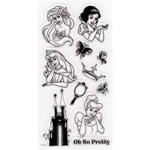 DISNEY PRINCESS CLEAR STAMPS Cinderella Castle Ariel