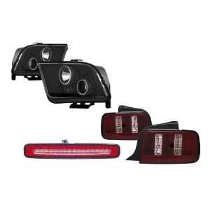 Halo Projector Headlights + LED 3RD Brake Light + Tail Lights Combo