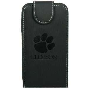 NCAA Clemson Tigers Black Leather Team Logo iPhone Wallet