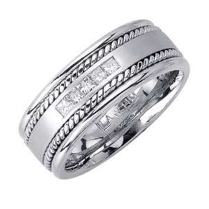 0.25ct Diamond Wedding Ring in 18K White Gold (GH, VS) Jewelry