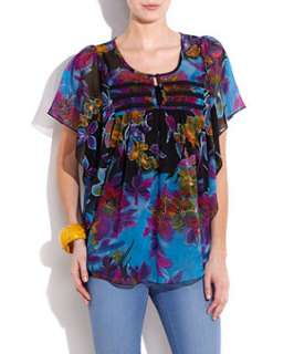 null (Multi Col) Kushi Tropical Top  254653999  New Look