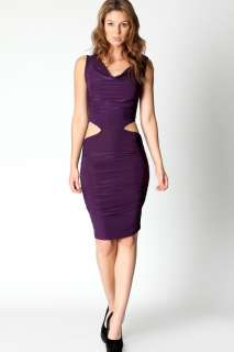 Sale  Dresses  Suzanne Draped Cut Work Bodycon Dress