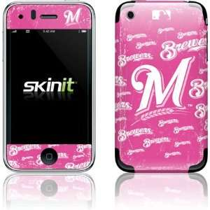 Milwaukee Brewers   Pink Cap Logo Blast skin for Apple