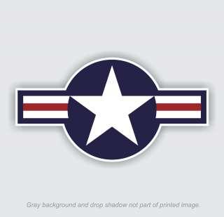 Decal 5 long x 2.75 tall Sticker Air Force Logo Military Aircraft