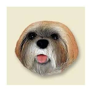 Lhasa Apso Puppy Cut Dog Magnet   Brown Kitchen & Dining