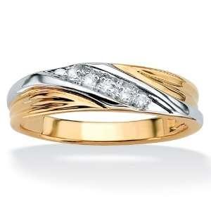 PalmBeach Jewelry 10k Gold Mens Diamond Wedding Band Jewelry