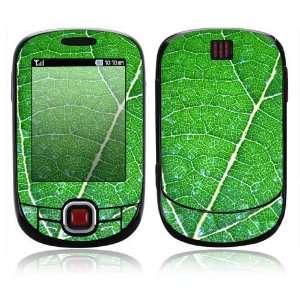 Samsung Smiley Decal Skin   Green Leaf Texture
