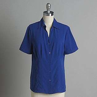 Womens Short Sleeve Georgette Blouse  Covington Clothing Womens Tops