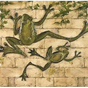 Metal FROGS Wall hanging Art Decor   set of 2: Home