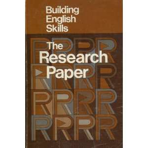 The Research Paper (Quantitive Studies in Social Relations