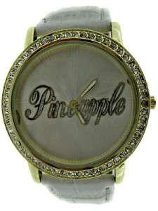 Girls/Ladies Pineapple Dance Studios White Croc Strap Watch & Bag