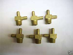 pc Parker Male Run Tee Barb 3/8 Tube to 1/4 NPT Pipe