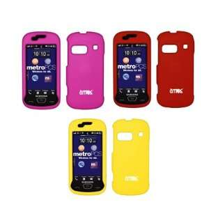 Snap On Cover Cases (Hot Pink, Red, Yellow) for Samsung Craft R900