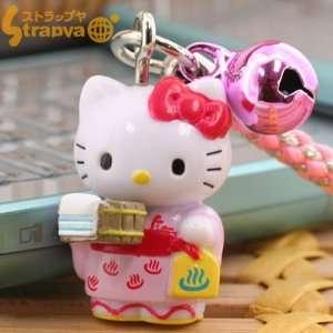 Sanrio Hello Kitty Onsen Series Netsuke Strap (Yukata