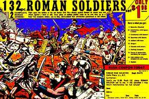 ROMAN ARMY MEN TOY SOLDIERS WAR FUNNY COMIC BOOK AD TEE