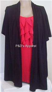 New Double Take Womens Plus Size Clothing Black Red Shirt Top Blouse