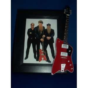 ZZ TOP BILLY GIBBONS Mini Guitar PICTURE FRAME Jupiter