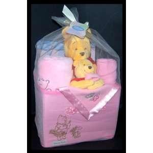 Disney Baby Winnie the Pooh Plush   Pink 13 Piece Gift Set