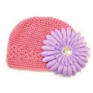 Months With a 4 Light Purple Gerbera Daisy Flower Hair Clip Baby