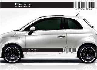 Fiat 500 barcode racing stripe stickers decals 019