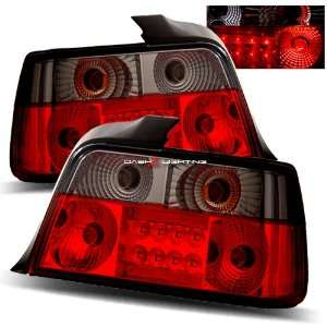 92 98 BMW E36 4 Door LED Tail Lights   Red Smoke
