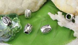 50pcs Tibetan silver egg shape spacer beads FC11321