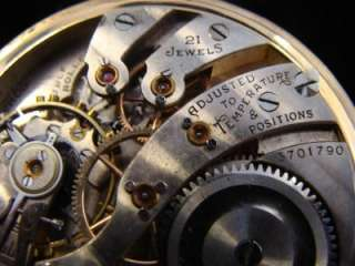 Diamond Masonic Burlington Open Face Pocket Watch 14K Gold Strata Case