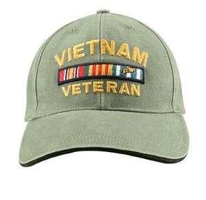 NEW DELUXE LOW PROFILE INSIGNIA CAP   OLIVE DRAB VIETNAM VET 9721