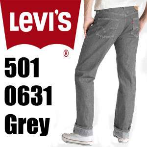 Levis 501 Mens Grey Shrink To Fit Rigid Jeans 5010631