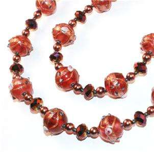 PINK & PURPLE VENETIAN WEDDING CAKE CRYSTAL BEAD NECKLACE VTG ART DECO