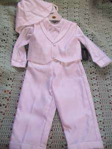 New Fouger 5pc. Boys Embroidery Baptism Suit Sz.L (18 months) White