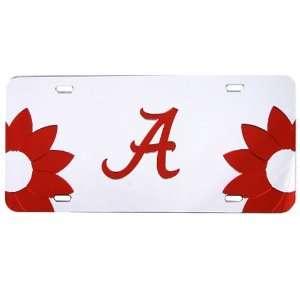 Alabama Crimson Tide Flower Power Silver Mirror License