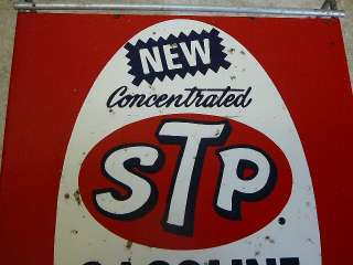 Service Station Gas Oil STP Gas Treatment Wire Display Rack W Sign