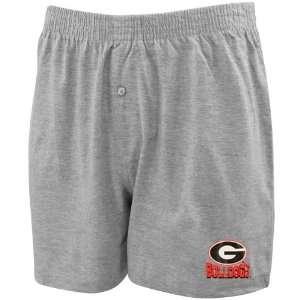 Georgia Bulldogs Ash Solid Boxer Shorts:  Sports & Outdoors
