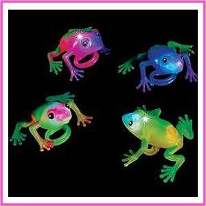 12 Soft Flashing Frog Ring Light Up Toys Toys & Games